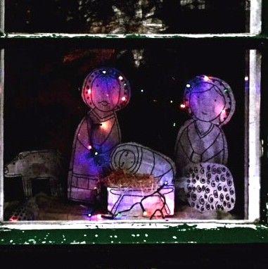 Domácí recyklovaný Betlém za oknem i s postupem, jak na to