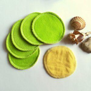 odličovací tamponky - sady 10 ks dvoubarevné