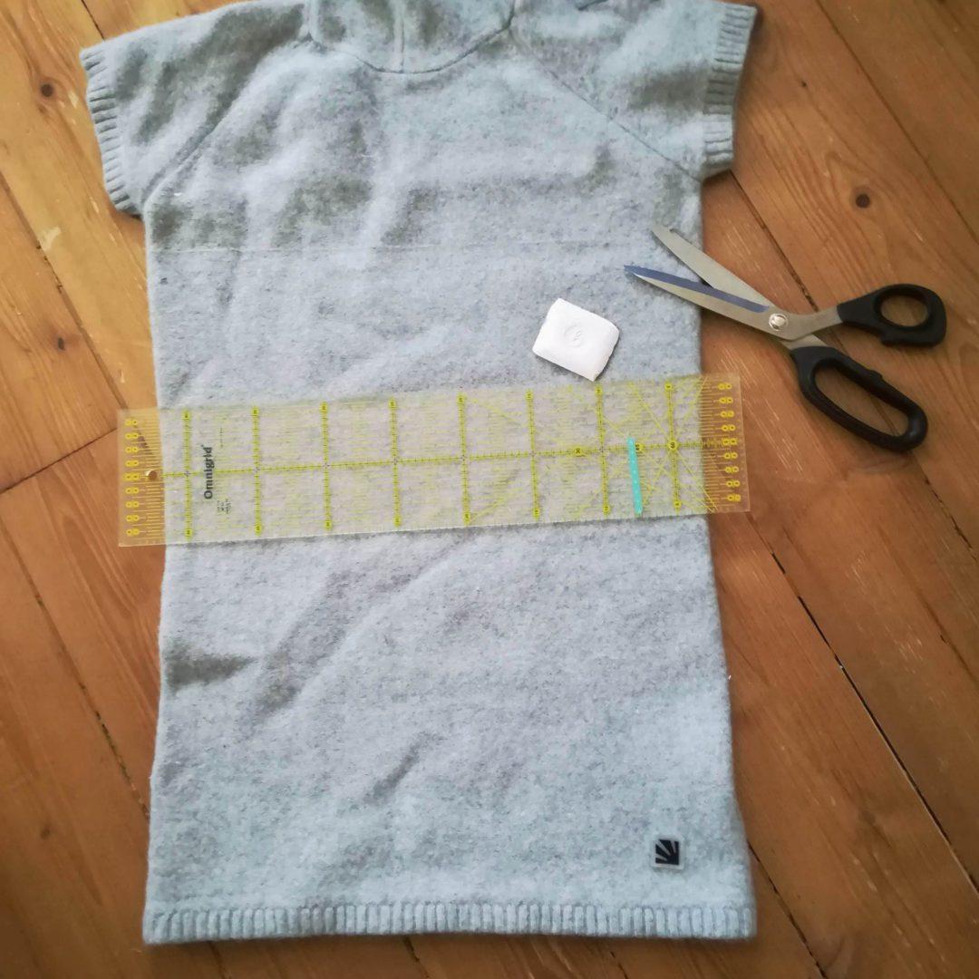 Zimní sukně z vlněného svetru